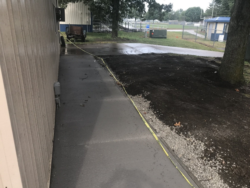 New entrance sidewalk